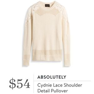 Stitch Fix Absolutely Cyndie Lace Pullover Sweater